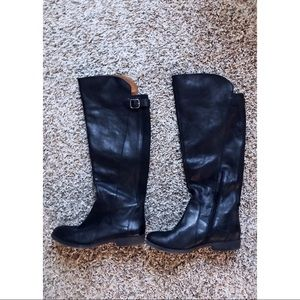 Like New Lucky Brand Black Knee High Boots